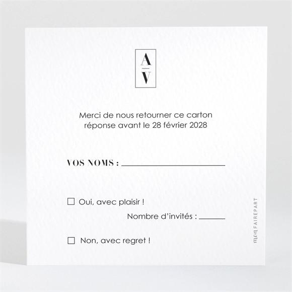 Carton réponse mariage So Nature ! réf.N3001705