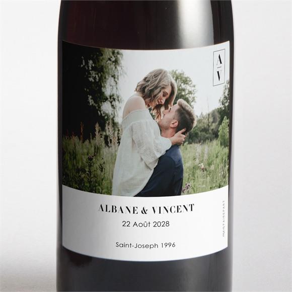 Etiquette de bouteille mariage So Nature ! réf.N3001706