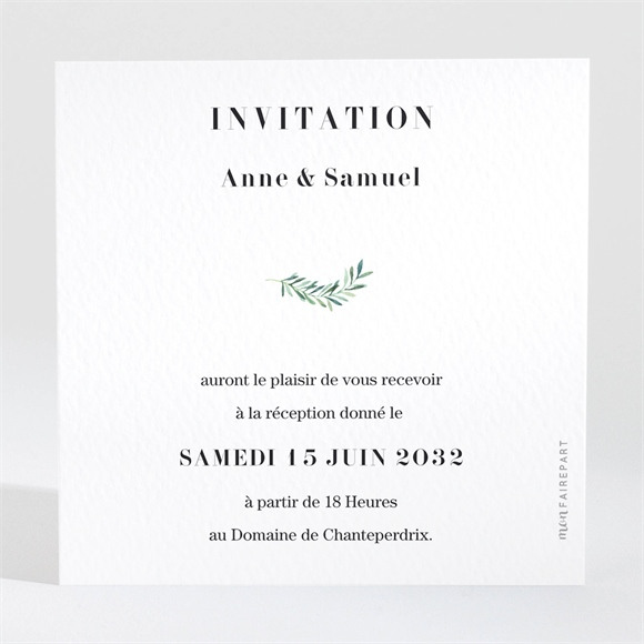 Carton d'invitation mariage A la Folie ! réf.N3001709