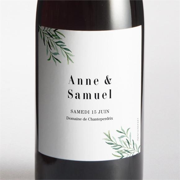 Etiquette de bouteille mariage A la Folie ! réf.N3001710