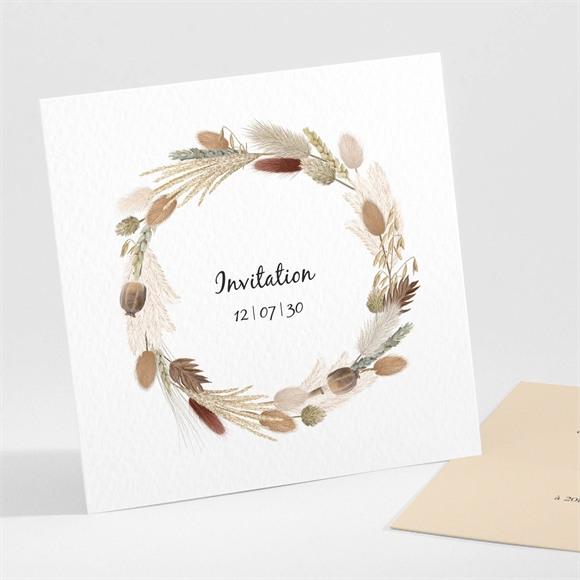 Carton d'invitation mariage Notre Bouquet d'Automne réf.N301285