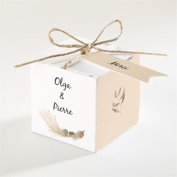 Boîte de dragées mariage Notre Bouquet d'Automne réf.N340355