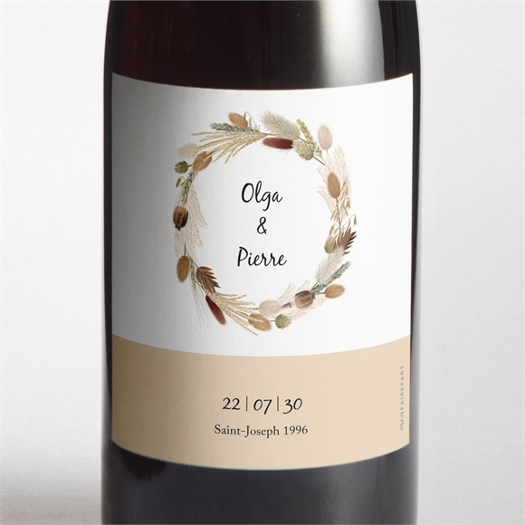 Etiquette de bouteille mariage Notre Bouquet d'Automne réf.N3001712