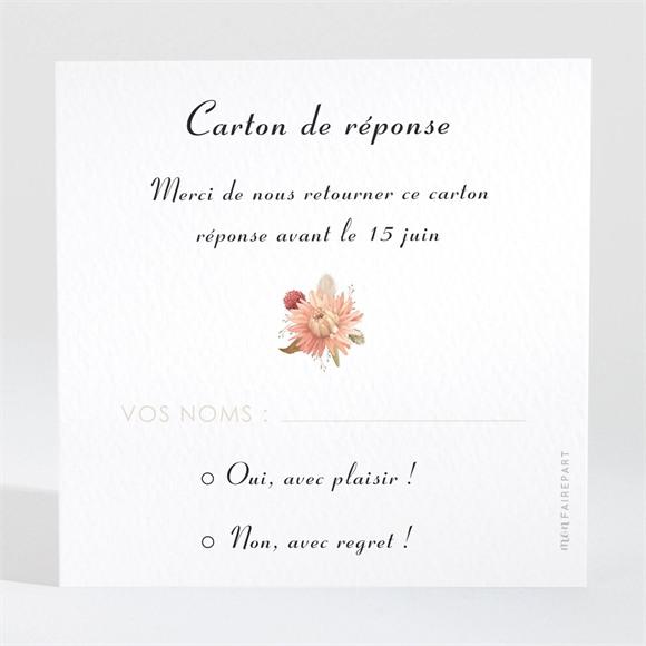 Carton réponse mariage En délicatesse réf.N3001720