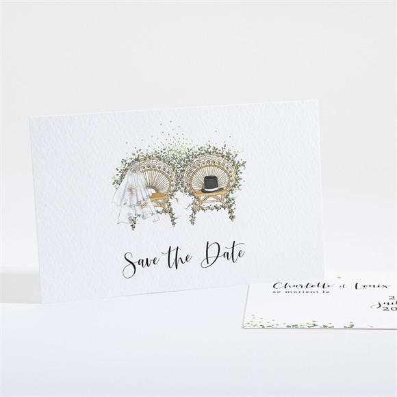 Save the Date mariage Fusion Champêtre réf.N161178