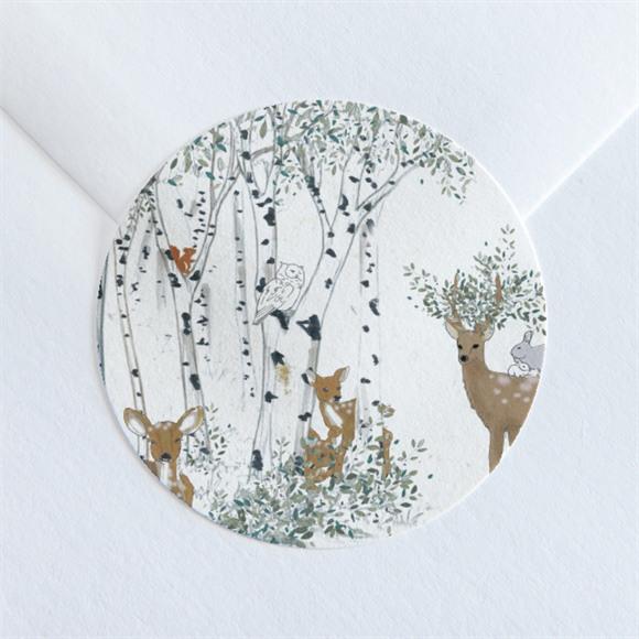 Sticker naissance A l'orée du bois réf.N360193