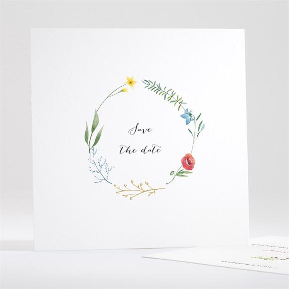 Save the Date mariage Fleurs des Champs réf.N351172