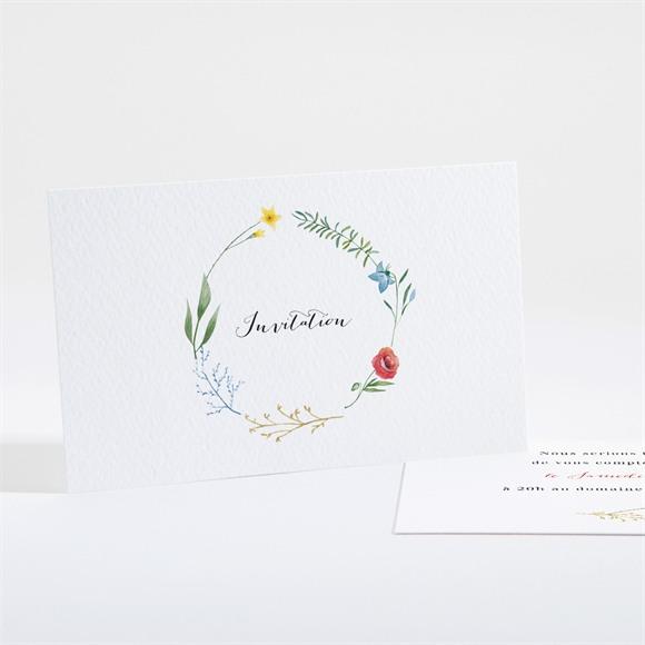 Carton d'invitation mariage Fleurs des Champs réf.N161183