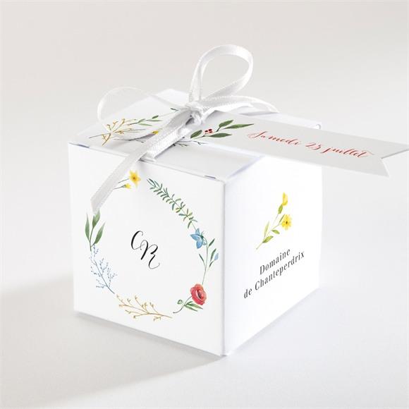 Boîte de dragées mariage Fleurs des Champs réf.N340365