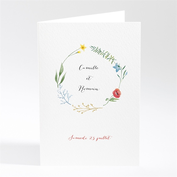 Menu mariage Fleurs des Champs réf.N401838