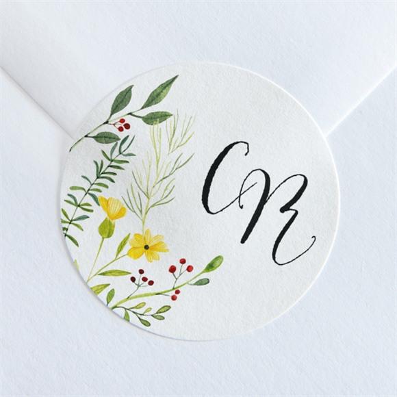 Sticker mariage Fleurs des Champs réf.N360200