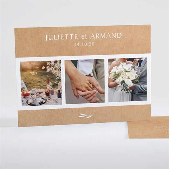 Remerciement mariage Bohème écolo réf.N15134