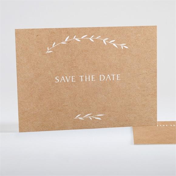 Save the Date mariage Bohème écolo réf.N15137