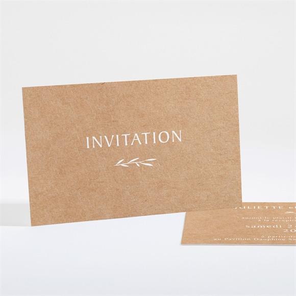 Carton d'invitation mariage Bohème écolo réf.N161187