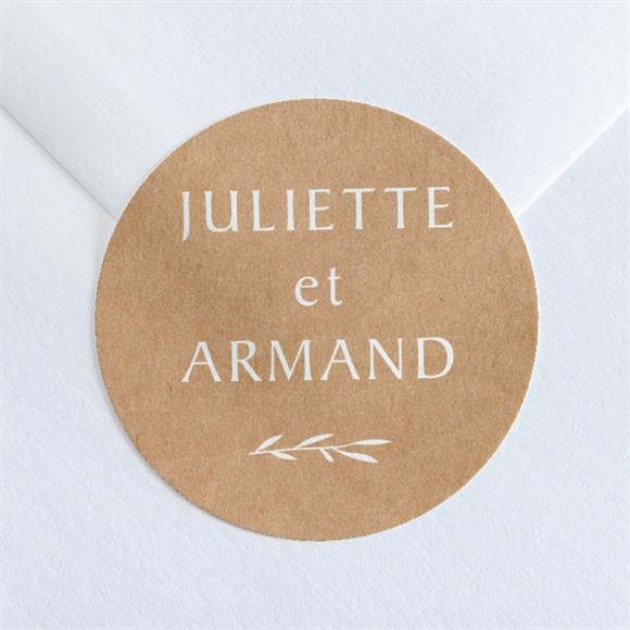 Sticker mariage Bohème écolo réf.N360221
