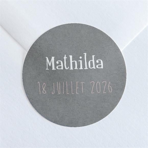 Sticker naissance Touche Vintage réf.N360231