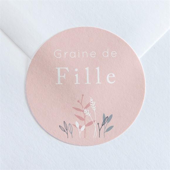 Sticker naissance Graine de fille réf.N360241