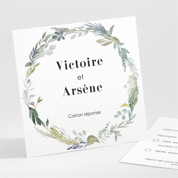 Carton réponse mariage Délicatesse d'Aquarelle réf.N301289