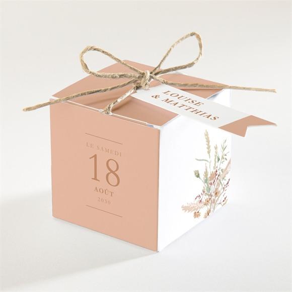 Boîte de dragées mariage Douceur Estivale réf.N340382