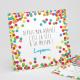 Faire-part naissance Cotillons multicolores réf.N31158